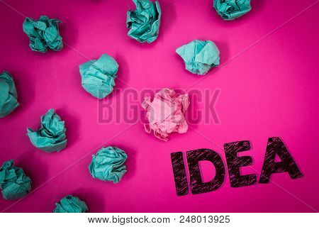 Word Writing Text Idea. Business Concept For Creative Innovative Thinking Imagination Design Plannin