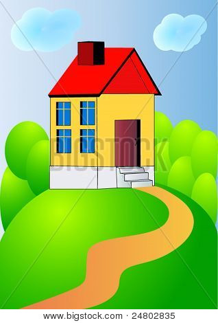 Nice House On Hillock With Track