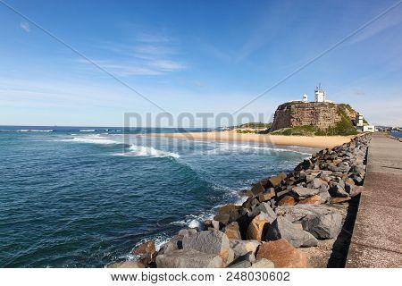 Nobbys Lighthouse And Beach - Newcastle Australia