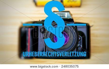 Camera With In German Urheberrechtsverletzung In English Copyright Infringement