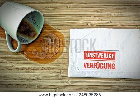 Letter With In German Einstweilige Verfügung In English Interim Disposal