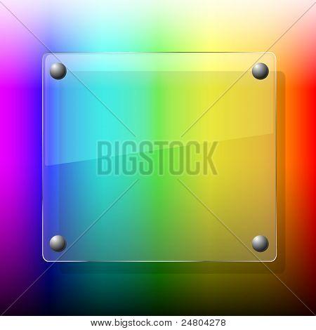 Glas auf Palette Background.vector Abbildung. Beste Wahl