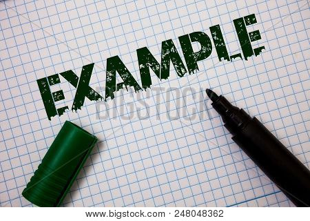 Word Writing Text Example. Business Concept For Illustration Sample Model To Follow Guide Explanatio