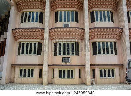 Bodhgaya, India - July 9, 2015. A Modern Building In Bodhgaya, India. Bodhgaya Is The Most Revered O