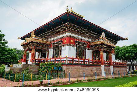 Bodhgaya, India - July 9, 2015. Bhutanese Buddhist Temple In Bodhgaya, India. Bodh Gaya Is The Most