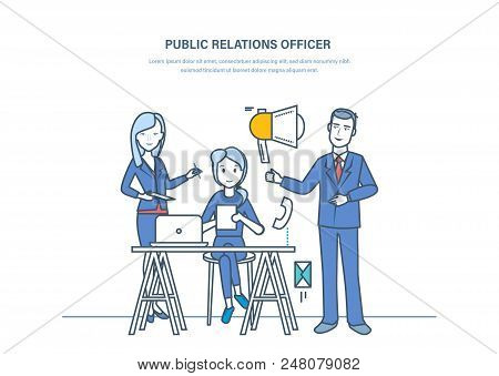 Public Relations Officers. Communication, Managing People Opinions, Relationships Between Society, G