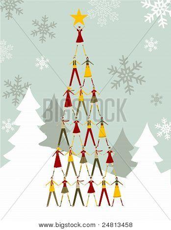 People Christmas Tree