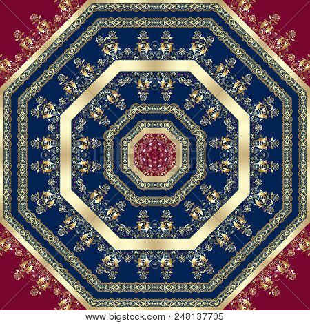 Seamless Arabic Lace Ornamental Pattern Background  Damask, Wallpaper