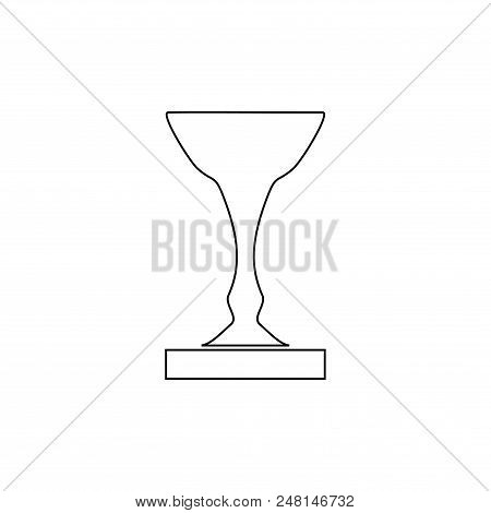 Cup Award Silhouette. Modern Symbol Of Victory, Award Achievement Sport. Insignia Ceremony Awarding