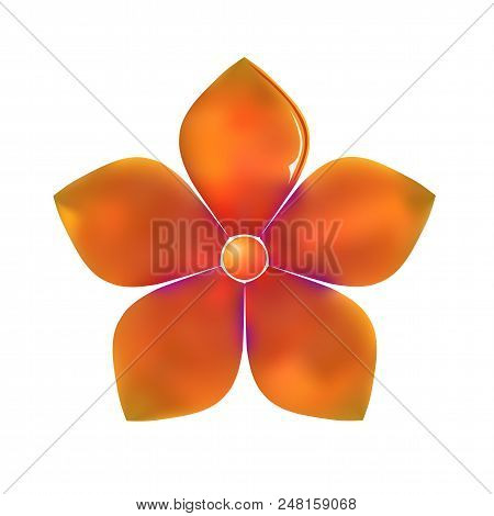 Gold Pattern Show Flower Metal Isolated On White Background (vector Illustration)