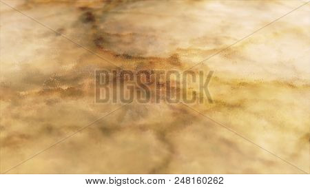 Yellow Shade Marble Surface Panning Background. Marble Rust Texture. Acrylic Texture With Marbling B