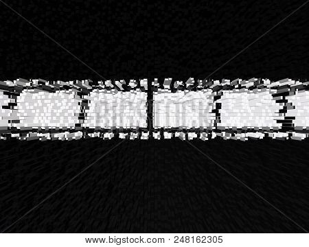Abstract Black And White 3D Illustrtion Background For Design