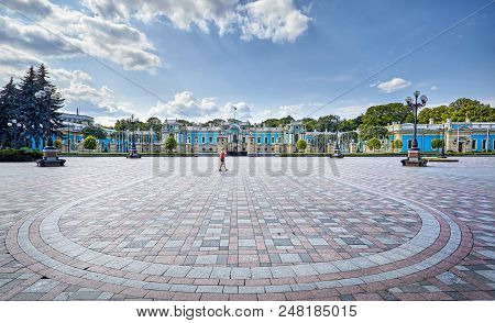 Tourist Near Mariinsky Palace