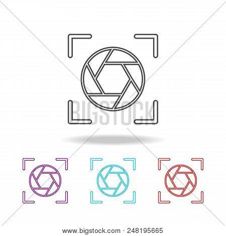Diaphragm Icons. Elements Of Photo In Multi Colored Icons. Premium Quality Graphic Design Icon. Simp
