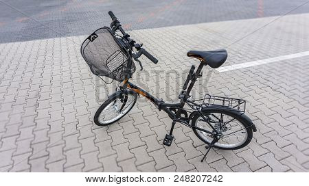 New Bicycle . Active Lifestyle Concept . Sport Bicycle Isolated  .  The Beautiful Bicycle In The Cit