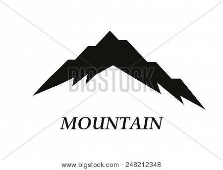 Mountain Silhouettes Overlook. Vector Rocky Hills Terrain Vector, Mountains Silhouette Set Isolated