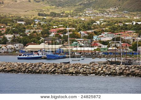 Colorful Harbor Town
