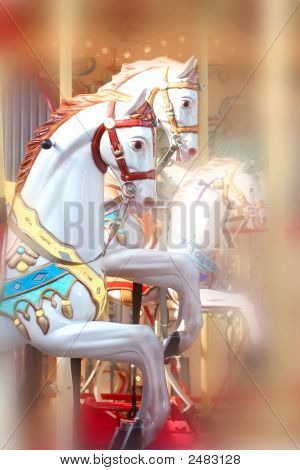 Merry Go Round Horses From Fishermans Wharf San Francisco California