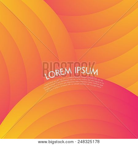 Striped Vibrant Gradient Orange Red - Abstract Background