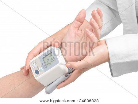 Medical Assistance Measuring Blood Pressure