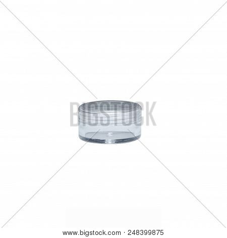 Prescription Medication Container Over A Pure R255 G255 B255 White Background.