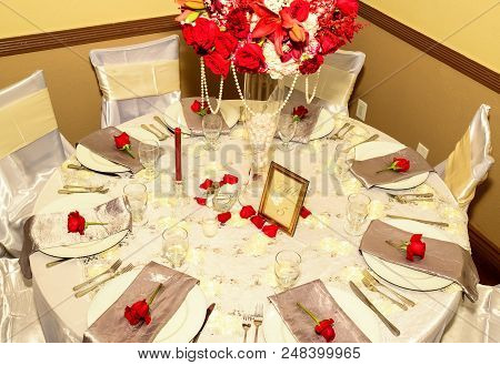 Decorations And Plates At A Party Celebration.