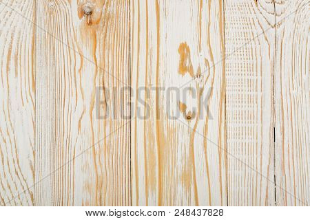 Beautiful Vintage White Wooden Background. Old Painted Wood Table Surface. Rustic Light Coloured Des