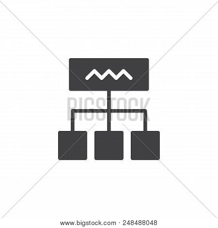 Diagram Vector Icon. Filled Flat Sign For Mobile Concept And Web Design. Hierarchy Scheme Simple Sol