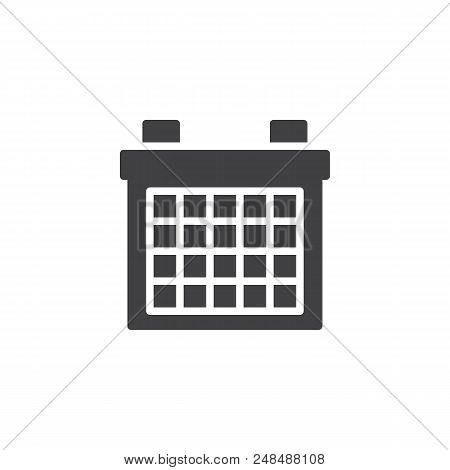 Calendar Vector Icon. Filled Flat Sign For Mobile Concept And Web Design. Office Organizer Simple So