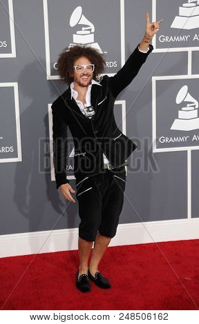 LOS ANGELES - FEB 10:  Red Foo arrives to the 2013 Grammy Awards  on February 10, 2013 in Hollywood, CA