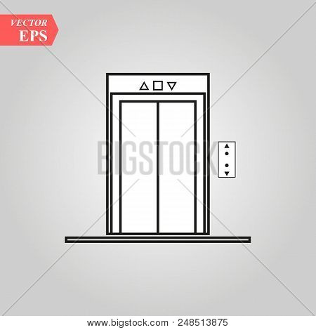 Elevator Icon Vector. Lift. Up. Escelator. Down. Up. Stairs Symbol. Modern Flat Vector Illustration