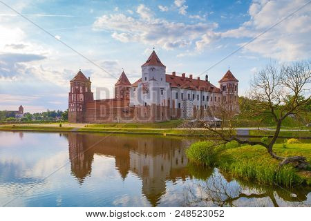 Grand View To Castle Of Mir, Minsk Region, Belarus.