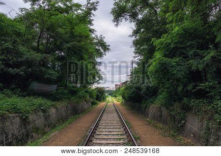 Hangdong Abandoned Railroad In Seoul South Korea.