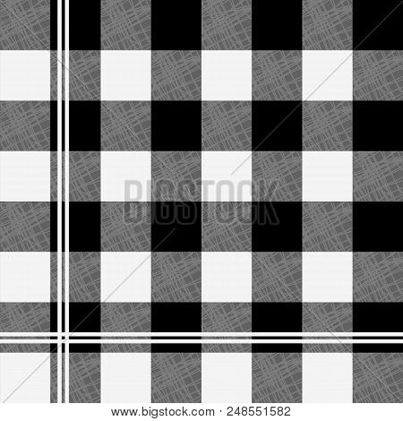 Trendy Vichy Pattern - Checkered Seamless Background Eps10