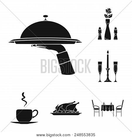 Champagne, Glasses, Candlestick, Candle, Fire, Table, Chairs, Serving, Dishes, Chicken, Vegetables,