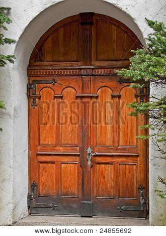 Beautiful Wooden Double Doors Archway