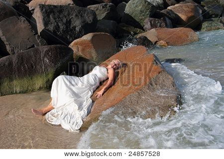 Beautiful Bride on the Beach