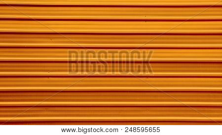 Orange Panel Of Container Texture Pattern Background.