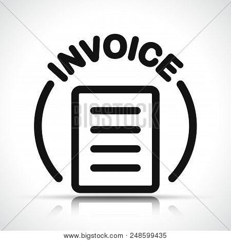 Illustration Of Invoice Icon On White Background
