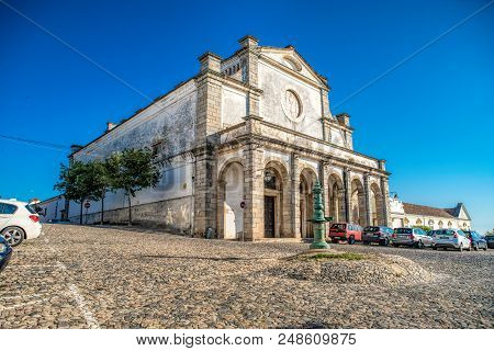 Evora, Portugal - June 7, 2018 : Street View Of The Historic Centre Of Evora, Portugal. The Historic