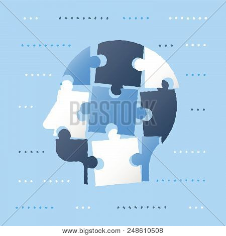 Puzzle Head, Neurology Concept, Personality Development, Self Improvement, Bias And Decision Making,