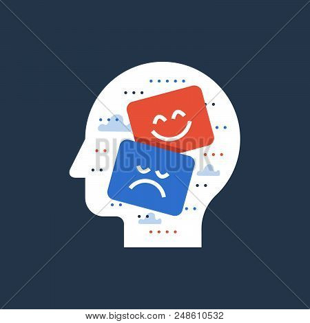 Theater Sad And Happy Face, Entertainment Performance, Emotional Intelligence And Empathy Concept, P
