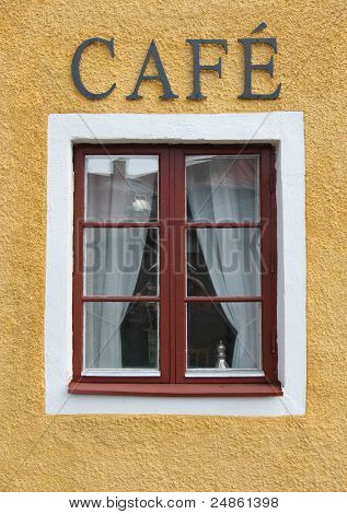 Coffee Shop fönster