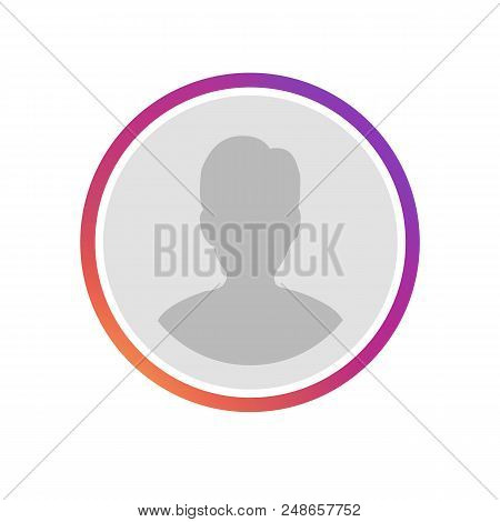 New Social media icon user. Instagram user frame with gradient. User button, sign, symbol, logo. Instagram stories user logo, image. Vector illustration EPS 10