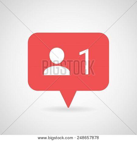 New Follower notification. Social media icon User button, sign, symbol, logo. Instagram user. Insta follower. Instagram stories user image Vector illustration EPS 10.