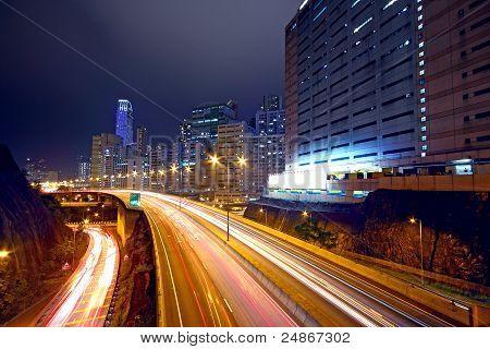 Urban Area Dusk, Busy Traffic