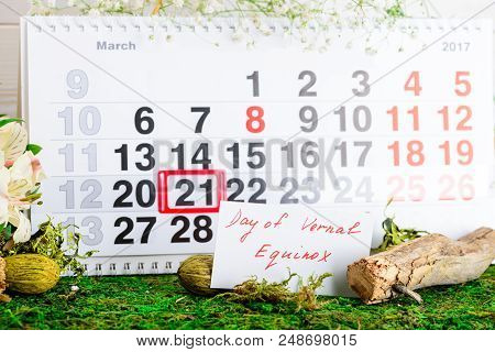 March 21 Vernal Equinox, A Spring Calendar Concept