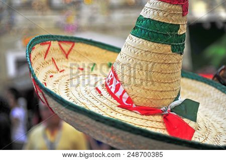 Hat Of An Mexican Football Fan In Moscow, Russia