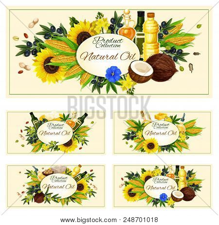 Cooking Oils Posters Vector & Photo (Free Trial) | Bigstock