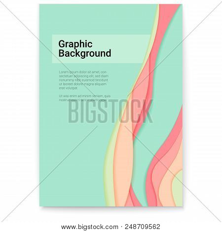 Abstract Paper Cut Design With Multi Layers Forms. Vector Cover Design, Layout With Cut Out Paper Sh
